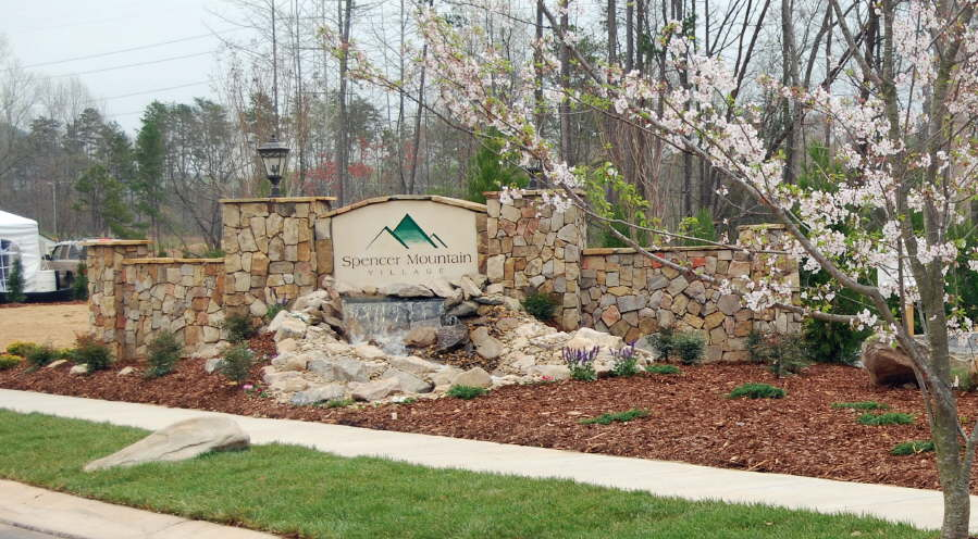 Subdivision Entrance Monuments Outdoor Contracting Charlotte Landscape