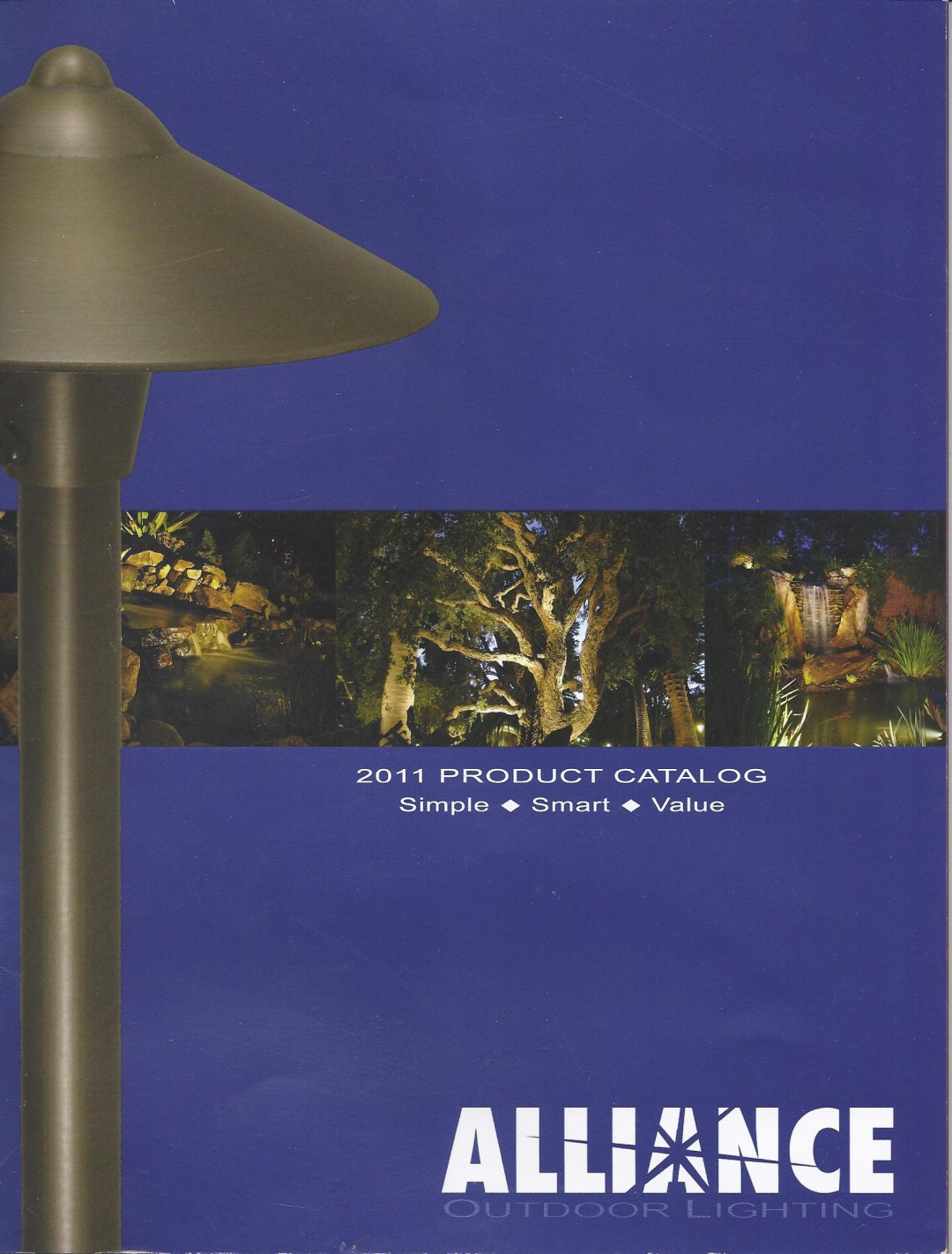 Outdoor Contracting Landscape Lighting Work Featured On The Cover Of 2017 Alliance Catalog