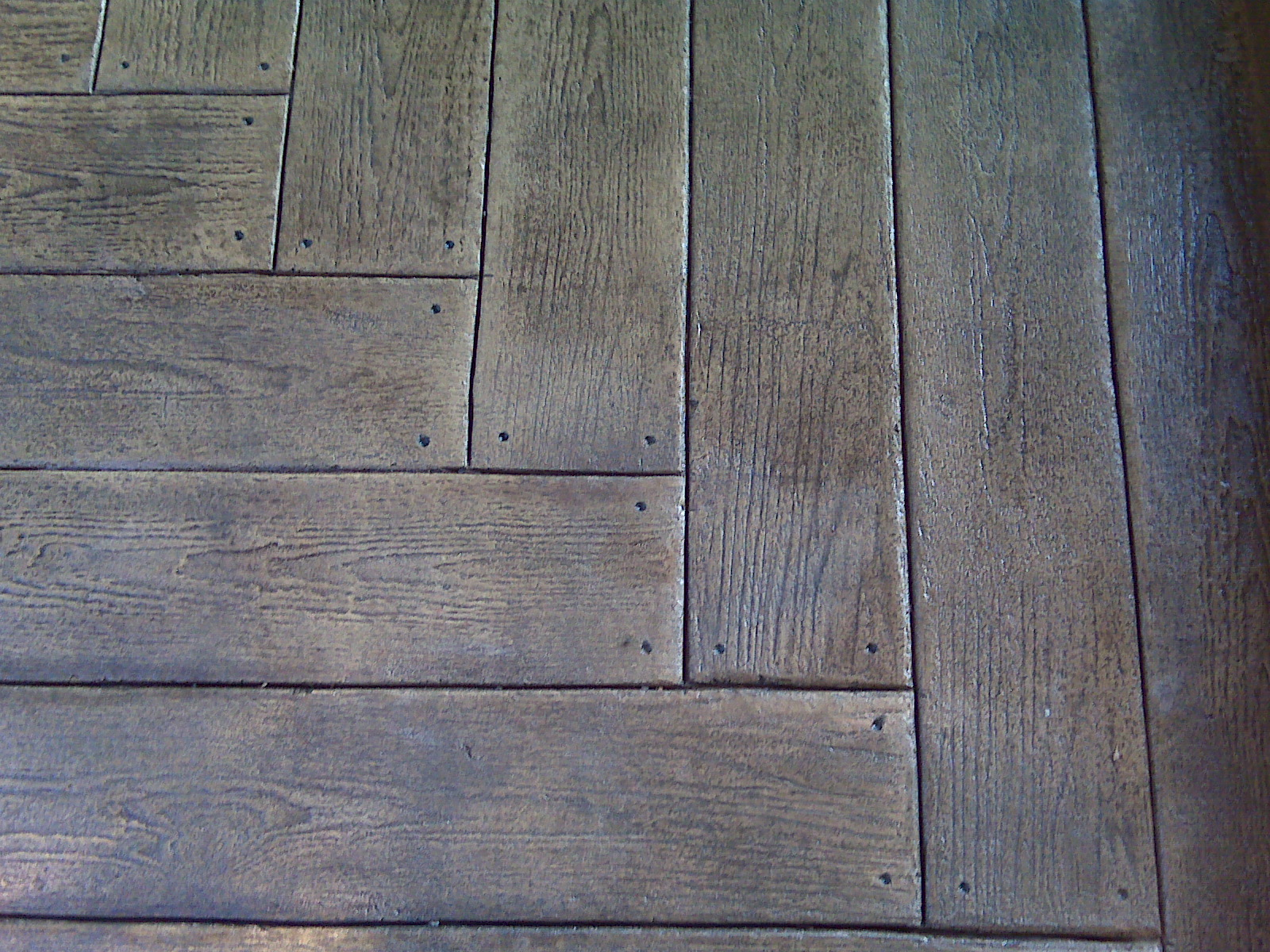Wood Plank Stamped Concrete Patio Outdoor Contracting